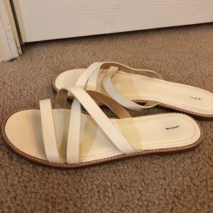 JCrew White Sandals - Barely Worn